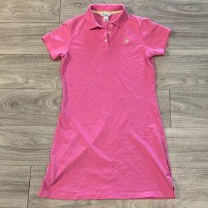 White Label Lily Pulitzer Pink Polo Shirt Dress